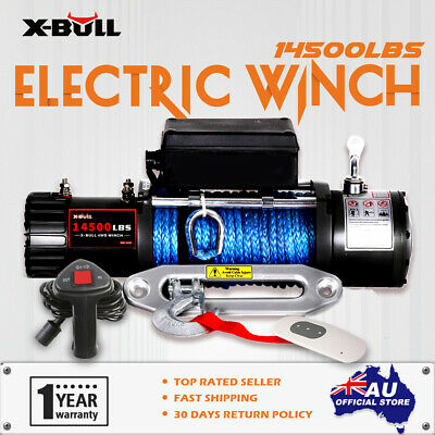 X-BULL 12V 14500LBS New Electric Winch Wireless Synthetic Rope Truck Offroad 4WD