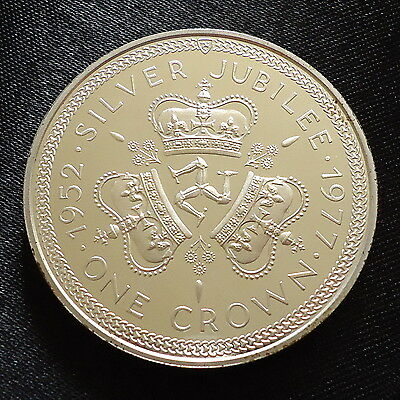 1977 Isle of Man Silver Proof Crown Coin Queens Silver Jubilee