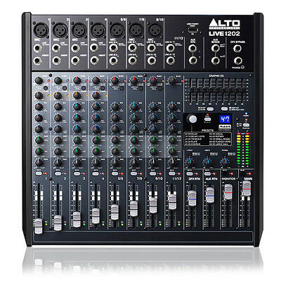 Alto Live 1202 12 Channel PA Mixer with Effects
