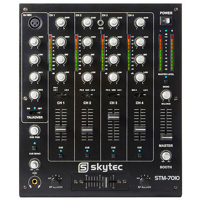 Skytec 172.880 DJ Mixer with 4 Channels & USB