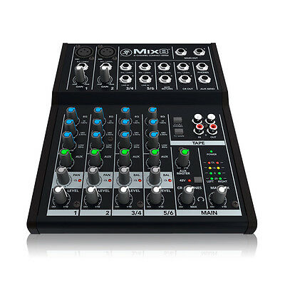 Mackie Mackie Mix8 8 Channel PA Mixer with Effects