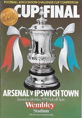 Arsenal V Ipswich Town ~ Fa Cup Final 1978 ~ Excellent Condition (2)