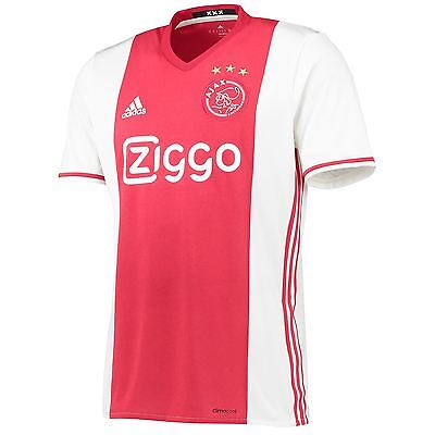 adidas Enfants Maillot Football Ajax Domicile T-Shirt Tee Top Jersey Haut 16-17