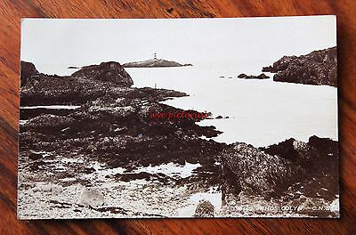 Posted 1912 Photo Postcard Rp Wales Anglesey Rhos Colyn Light House