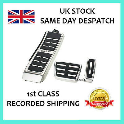 For Audi A8 S8 4H New Chrome Sport Automatic Fuel Brake Footrest Pedal Cover Set