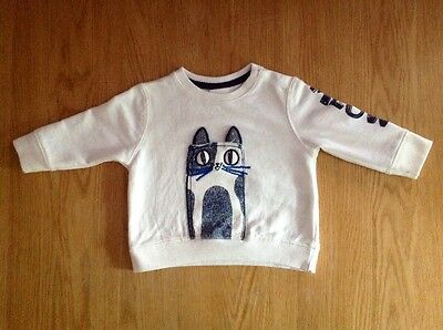 Zara Baby Boy Cat Jumper Age 3-6 Months Immaculate Condition