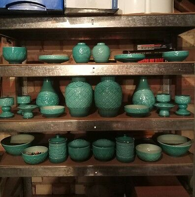 complete set beswick turquoise cathay