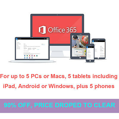 Office 365 1 Year Subscription Home For Mac 5 Devices 2016 Professional Plus Key