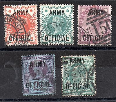 GB Army Official used collection x (5) WS3324