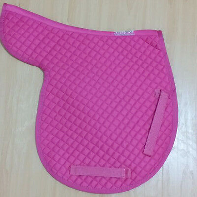 2PCS Roma Cotton English Saddle Pad Contour Quilted Pad for Horse in Cute Pink