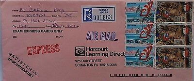 Malta 2000 Mosta Registered Express Airmail Cover To United States