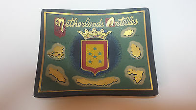 Netherland Antilles Coin plate glass collectible
