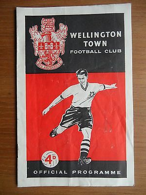 WELLINGTON TOWN v OSWESTRY TOWN 1958-1959 FA Cup Telford Shropshire