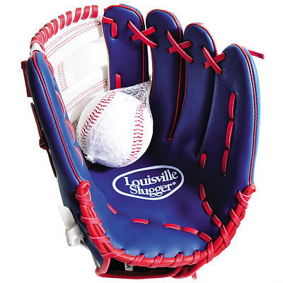 Louisville Slugger Kids Glove and Ball Set - Red, 12 inch