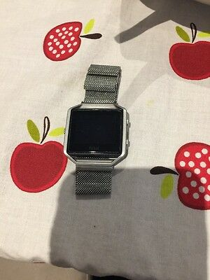 Fitbit Blaze Smart Watch Large Black Strap Boxed Also With Milanese Strap