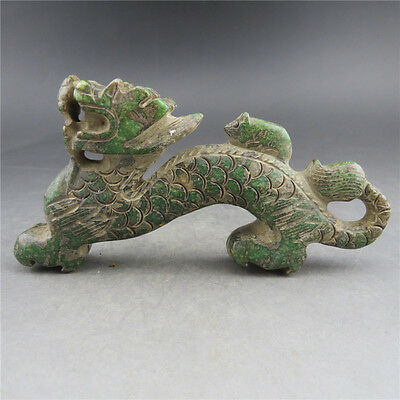 Chinese antiques,noble collection,manual sculpture,jade,dragon,statues Z65*+