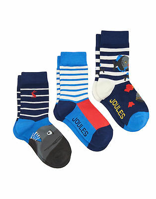 Joules Boys Three Pack Bamboo Sock Set - Pirahna