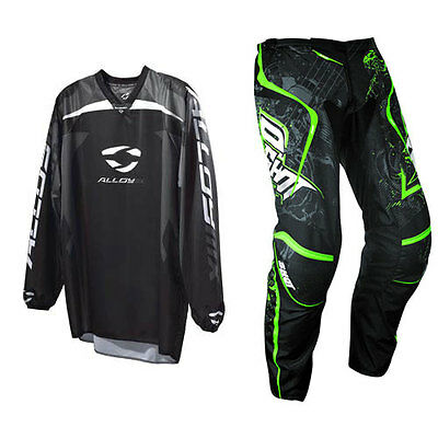 SHOT CONTACT LORD GREEN MOTOCROSS KIT PANT with ALLOY REACTOR BLACK JERSEY