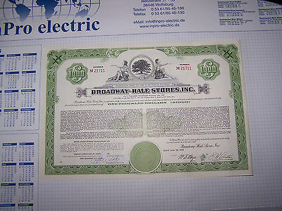 1000 Dollars Broadway-Hale Stores,Inc. +100 Shares Virginia Electric and Power C