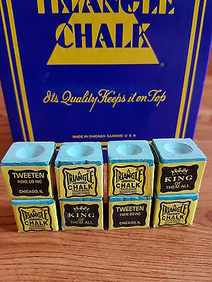 8 pieces blocks of genuine green triangle chalk (tweetens)usa king of them all