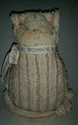 Imagine Wonder and Dream,   Country Cat doll Decor
