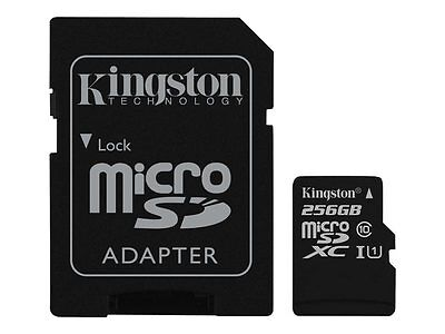 Kingston Flash memory card (microSDXC to SD adapter included) 256 GB UHS Class 1