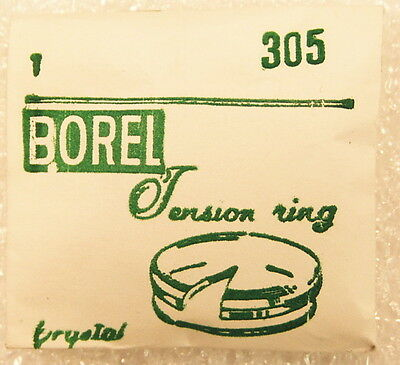 BOREL 30.5mm Watch Crystal with Silver Color Tension Ring T305 NOS