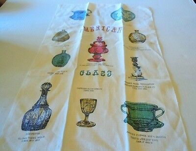 Vintage Early American Glass Kitchen Towel