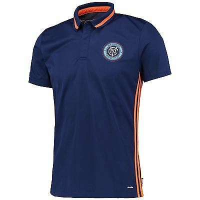 adidas Hommes Maillot Football New York City FC Manches Courtes Polo T-Shirt Tee