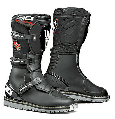 Sidi Courier Black Motorcycle Boots Size EC 43