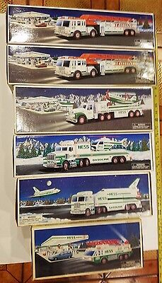 Hess 6 Trucks Lot 1995 1996 1999 2000 2000 2002 Fire Plane Heli More With Boxes
