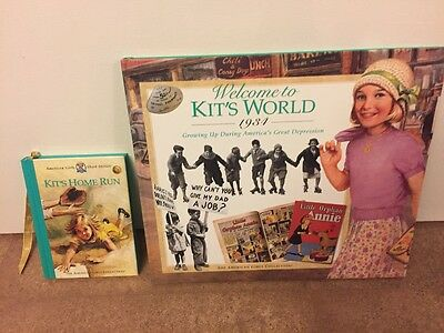 American Girl Kit Welcome to Kit's World & Hit home run book