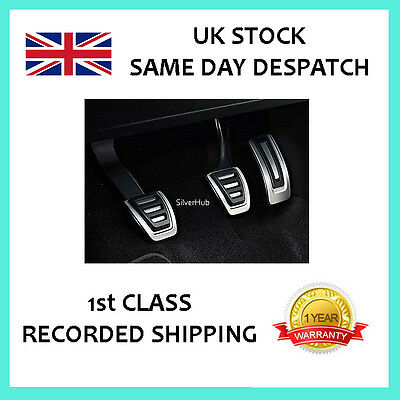For Skoda Rapid Chrome Sport Manual Fuel Brake Clutch Pedal Cover Set Caps Rhd