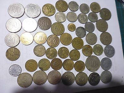 Yugoslavian coins as listed