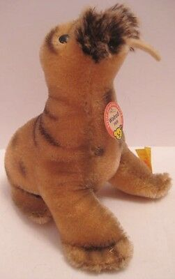"Adorable Antique Plush Toy Walrus 5  1/4"" Stieff WalroB Germany w Button 1959"