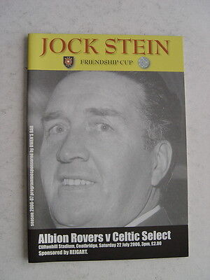 Albion Rovers v Celtic 2006 Jock Stein Friendship Cup