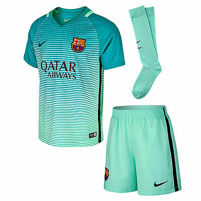 Nike 2016/17 FC Barcelona Infant Toddler 3rd  Football Mini Strip kit Mint Glow