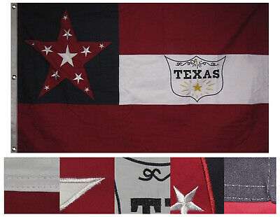 3x5 Embroidered 6th Texas Cavalry Regiment 100% Cotton Flag 3'x5'