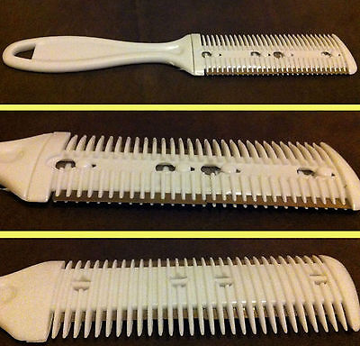 Hair Trimmer Razor Blade Comb Hair Cut Trim Home Quick Easy Hairdressing Aid New