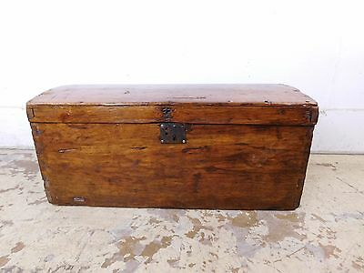 Early Antique Patina Wood Luggage Immigrant Dome Trunk Box Chest 18c !9c Restore