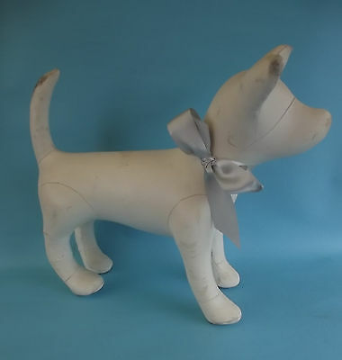 "Large Chihuahua/Terrier DOG MANNEQUIN STORE DISPLAY? Pleather 16"" Tall 19"" Long"