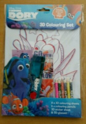New Out From Disney Pixar Finding Dory: 3D Colouring Set Brand New +Sealed