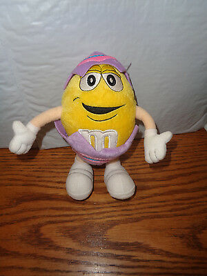 2001  Yellow M&M - Easter Egg Plush - 7""