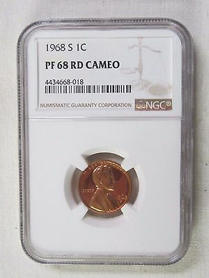 1968 S Lincoln Memorial Cent/Penny - NGC PF 68 RD Cameo (New)