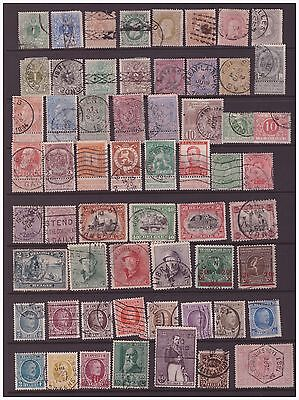 Belgium 1869-1936 selection of used  stamps 2 scans
