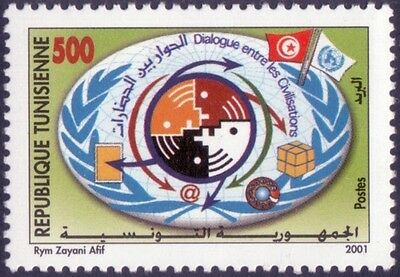 TUNISIA 2001 Year of Dialogue among Civilizations MNH SCARE JOINT ISSUE UNO
