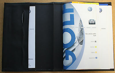 VW GOLF V Mk5 HANDBOOK OWNERS MANUAL WALLET 2003-2008 PACK 13345