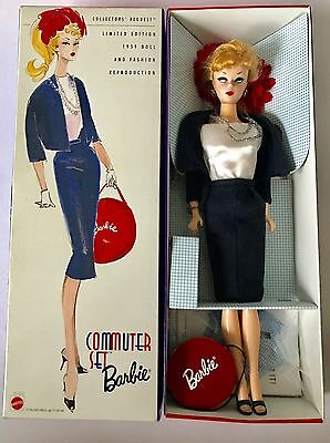 Commuter Set Collectible Reproduction Barbie Doll Boxed By Mattel