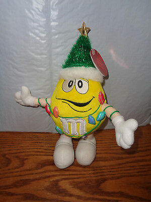 2003  Yellow M&M - Christmas Tree With Lights Plush 11""