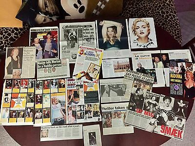 Madonna Various Magazine And Newspaper Articles Cuttings Pack EE